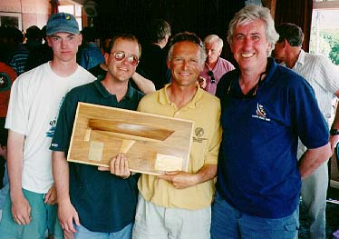 Crew of Eric the Boat at prize giving