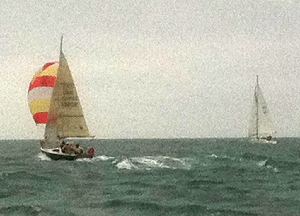 Sonata under way in heavy weather