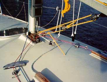Kicker adjustment led to cleat near deck organiser blocks